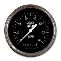 MOON Equipped 3 3/8inch 140MPH Speed Meter  (Black)
