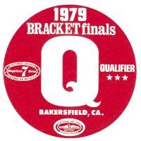 HOT ROD Sticker 1979 BRACKET Finals QUALIFIER Sticker