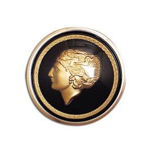 Photo1: Golden Lady Horn Button