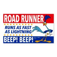 Road Runner Decal: Tri-Color