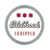 HOT ROD Sticker Edelbrock EQUIPPED Round Sticker