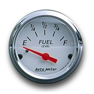 Photo1: Arctic White / Red  Pointer Fuel Level Meter