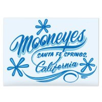 MOONEYES California Pinstripe Sticker Blue
