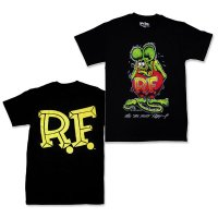 "Rat Fink Monster T-Shirt ""Standing Rat Fink"" Black"