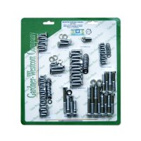 S/B Chevy Chrome Plated engine bolt set w/Bowtie logo