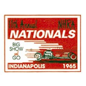 Photo1: HOT ROD Sticker 1965 NHRA INDIANAPOLIS NATIONALS Sticker
