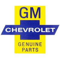 GM CHEVROLET GENUINE PARTSSticker