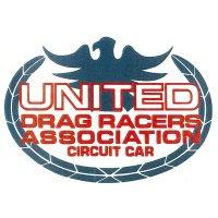 HOT ROD Sticker UNITED DRAG RACER ASSOCIATION CIRCUIT CAR Sticker