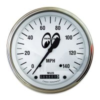 MOON Equipped 3 3/8inch 140MPH Speed Meter  (White)