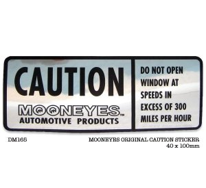 Photo1: MOONEYES CAUTION Sticker