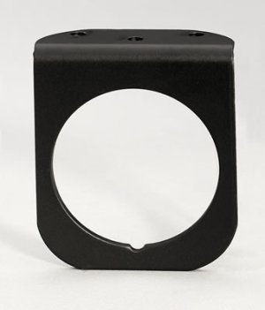 Photo1: 2 5/8inch Black Alumi Gauge Panel 1Hole