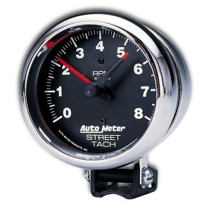 Photo1: Performance  8000RPM Street Tachometer Cylinder for 4/6/8 Chrome