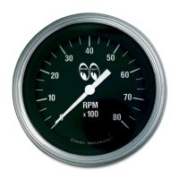 MOON Equipped 3 3/8inch 8000RPM Tachometer  (Black)