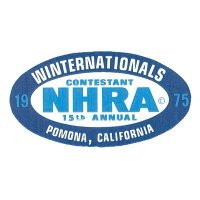 HOT ROD Sticker 1975 NHRA WINTERNATIONALS CONTESTANT Sticker