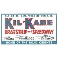 HOT ROD Sticker KIL-KARE DRAGSTRIP and SPEEDWAY