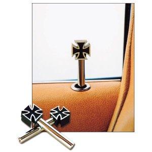 Photo1: Iron Cross Black Door lock Knob