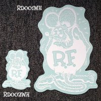Rat Fink Decal White L 20x14cm