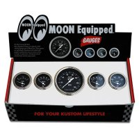 MOON Equipped 5 Gauge Set  (Black Face)