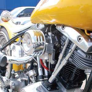 Photo1: Chrome Air Cleaner Cover & Filter