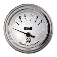 MOON Equipped 2inch Gear Indicator 3 Speed  (Electric) (White)