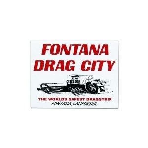 Photo1: HOT ROD Sticker FONTANA DRAG CITY Sticker