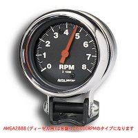 Performance  5000RPM Black Mini Tachometer for Diesel