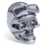 Chrome Shift Knob Skull with Goggles