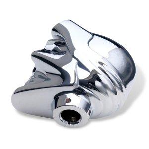 Photo2: Chrome Shift Knob Skull with Goggles