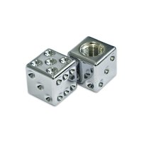 Chromd Dice Air Valve Cap