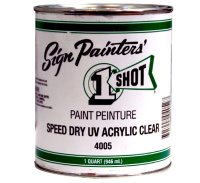 1 Shot Speed Dry UV Acrylic Clear 4005