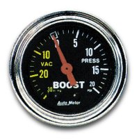 Mechanical Traditional  Gauge Boost  (30 in Hg.-Vac/20psi)