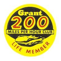 HOT ROD Sticker Grant 200 MILES PER HOUR CLUB LIFE MEMBER Sticker