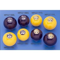 MOONEYES Eyeball Shift Knob: (S) Black Shifter / Yellow Emblem