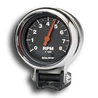 Performance  8000RPM Black Mini Tachometer Cylinder for 4/6/8