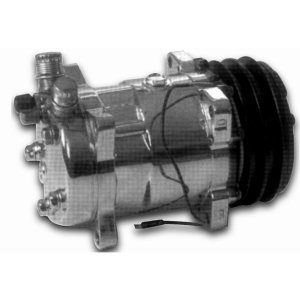 Photo1: Air Conditioner Chrome Compressor Double Pulley