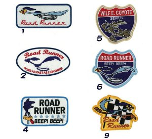 Photo1: Road Runner Patches