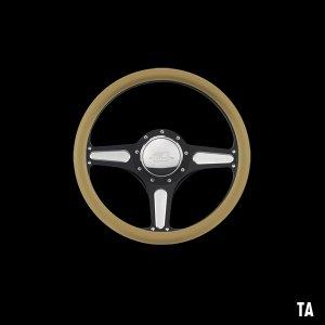 Photo2: Billet Specialties Steering Wheels Street Lite 35cm Black Black Anodized