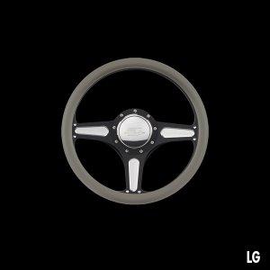 Photo3: Billet Specialties Steering Wheels Street Lite 35cm Black Black Anodized