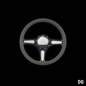 Photo4: Billet Specialties Steering Wheels Street Lite 35cm Black Black Anodized