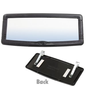 Photo1: Deluxe Visor Mirror Black