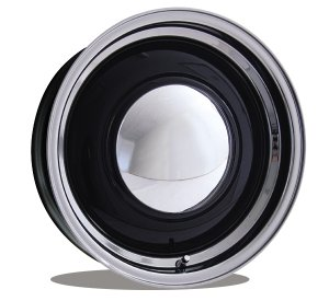 Photo1: Baby MOON Special 16 Inch 6-Hole Black/Polished