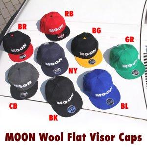 Photo1: MOON Wool Flat Visor Cap