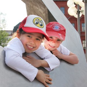 Photo2: Kids MOON Eyeball Baseball Caps