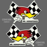 Clay Smith Checkered Flag Sticker