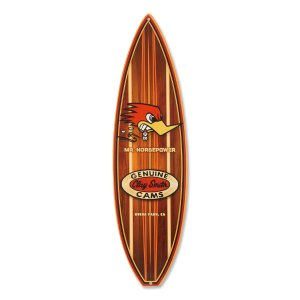 Photo1: Clay Smith Woodie Surfboard Metal Sign