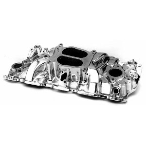 Photo1: Powre Plus Intake Manifold SB CHV Crosswind Polish