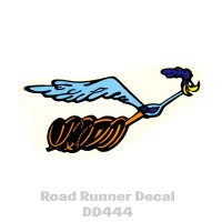 Road Runner Decal RH 6.25 inch