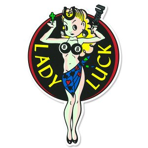 Photo2: Lady Luck 6-inch Sticker