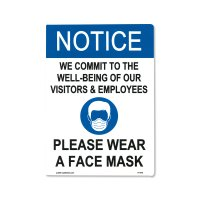 Notice Please Wear A Face Mask Sticker