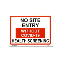No Site Entry Sticker